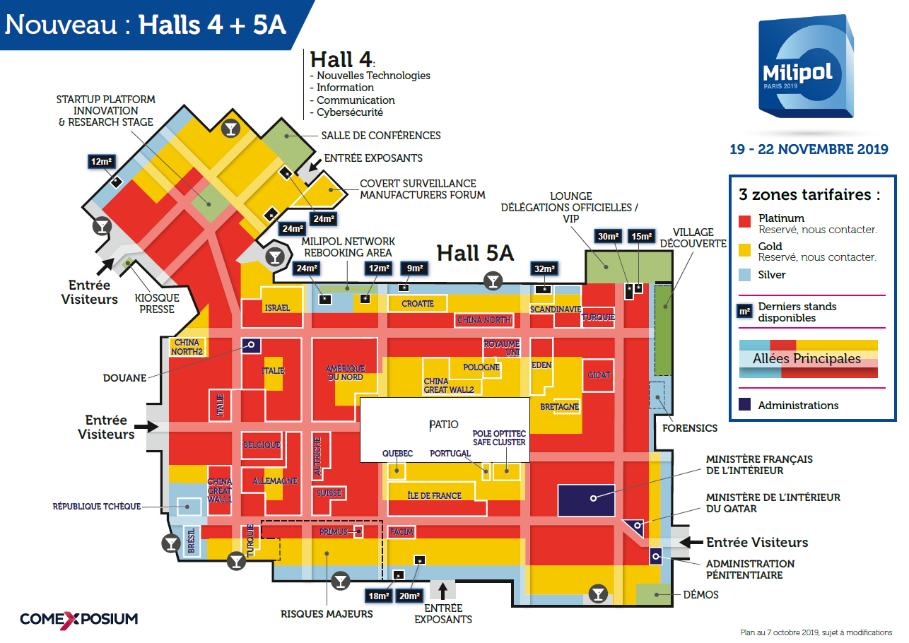 Plan à trou Milipol Paris 2019
