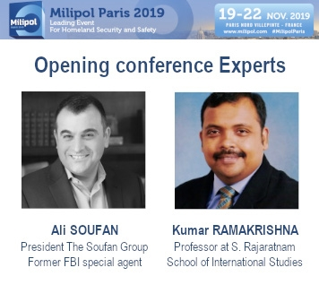 Experts anti-terrorisme à Milipol Paris