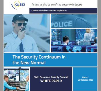 Actu Livre blanc CoESS sur le Continuum Sécurité