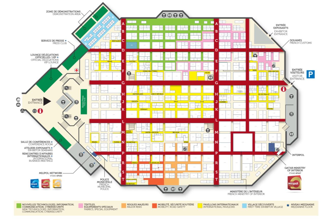 Cliquez pour découvrir le plan interactif de Milipol Paris