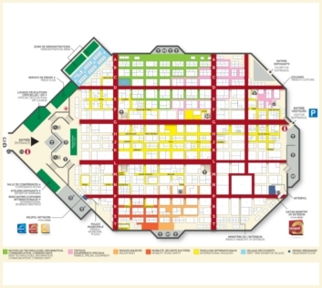 Plan interactif du salon Milipol Paris 2017