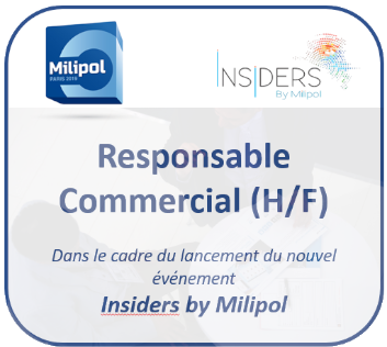 Recrutement responsable commercial(e) Insiders by Milipol