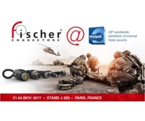 Fischer Connectors, exposant Milipol Paris 2017