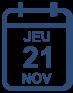 Programme jeudi 21 novembre